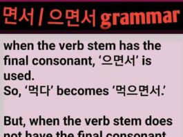 Korean Grammar 면서 으면서