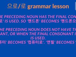 으로 로 grammar lesson