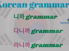 다니까 grammar