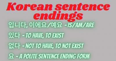 korean sentence endings
