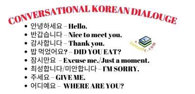 conversational Korean for beginners